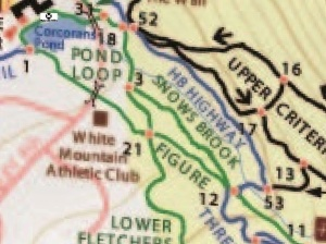 Trail map adjusted